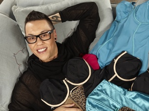 Gok Wan with underwear