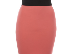 Lipsy coral pencil skirt