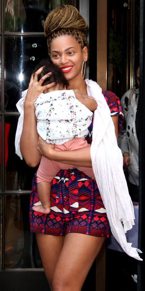 Beyonce Knowles and Blue Ivy Carter out and about in New York on 18 July, 2012.