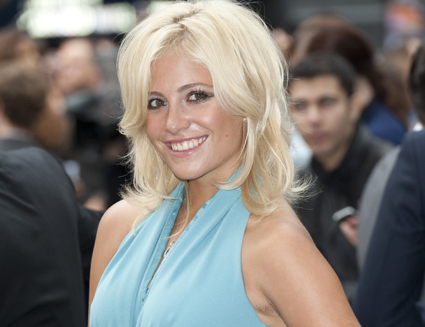 Pixie Lott hairy armpit at Batman premiere