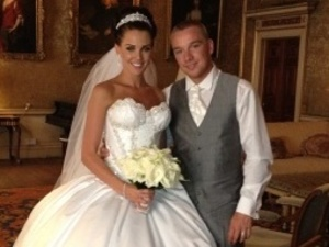 Danielle Lloyd with husband Jamie O'Hara, from her Twitter account