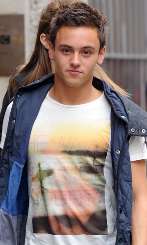 Tom Daley at the BBC Radio 1 studios in London, England 22.05.2012