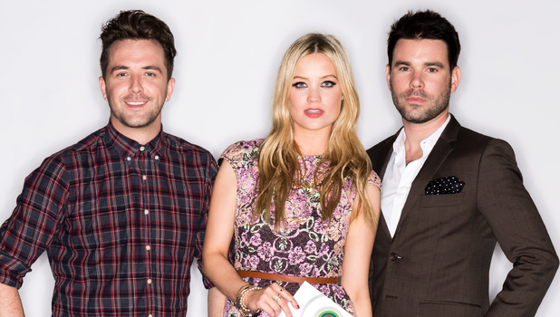 Darren McMullen, Dave Berry and Laura Whitmore
