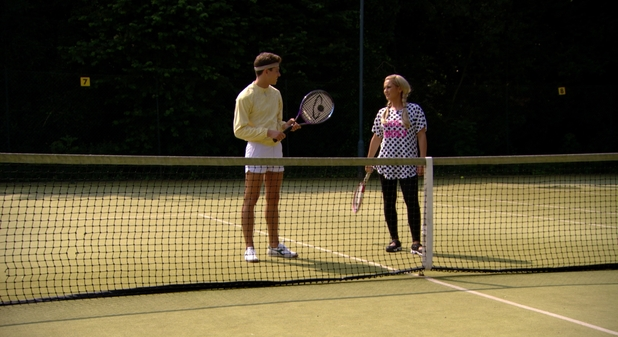 Joey Essex and Sam Faiers play tennis in TOWIE