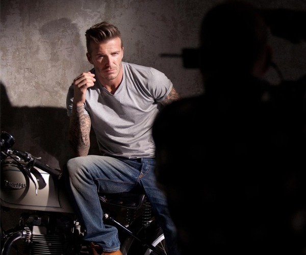 David Beckham posts photos on Facebook