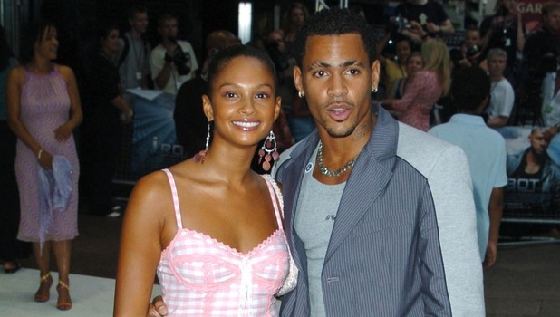 ALESHA DIXON of MIS-TEEQ and MC HARVEY of SO SOLID CREW at the premiere of 'I ROBOT' in Leicester Square. London, UK - 04.08.04 Credit:WENN/Z.TOMASZEWSKI