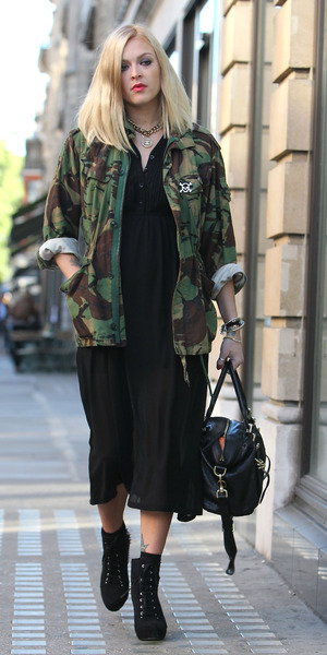 Miss mode: fearne cotton military jacket