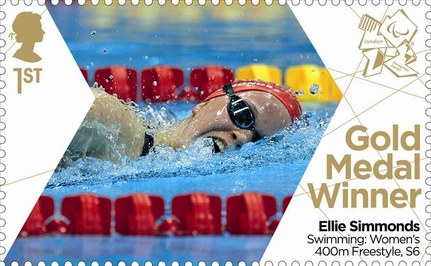 Paralympic gold medal winner Ellie Simmonds' stamp