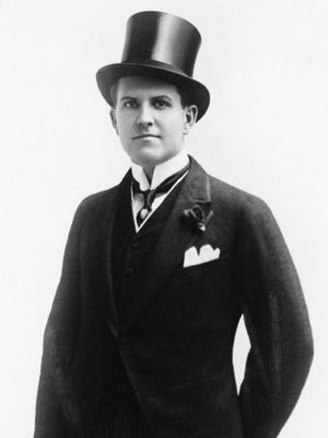 Portrait of a man in a top hat and morning suit holding a cane Subhead: Portrait of a man in a top hat and morning suit holding a cane Supplementary info: Categories: Humour, Stock, Not-Personality, Historical, Nostalgia Byline: Courtesy Everett Collection/Rex Features