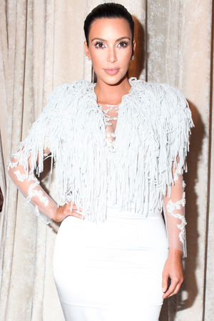 Kim Kardashian at Marchesa show at New York Fashion Week