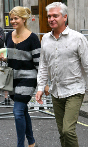 Holly Willoughby and Phillip Schofield leaving the BBC Radio 1 studios London, England - 10.09.12 Mandatory Credit: WENN.com