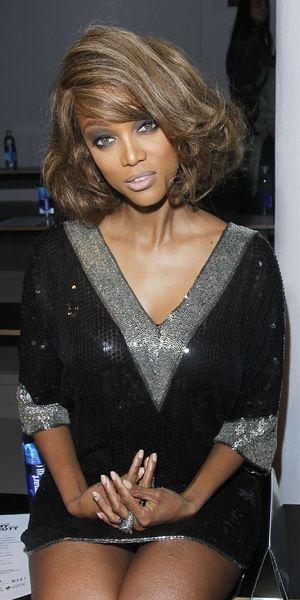 Tyra Banks at NYFW 12.09.12
