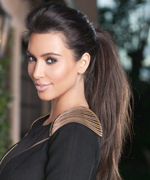 Kim Kardashian PR shot for True Reflection UK fragrance launch