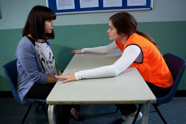 Hollyoaks, Nancy visits Mitzeee in prison, Thu 13 Sep