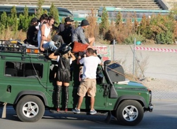 Rita Ora films music video in Kosovo
