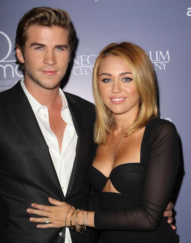 Liam Hemsworth, Miley Cyrus Australians In Film Awards & Benefit Dinner 2012 held at The InterContinental Hotel - Arrivals Los Angeles, California - 27.06.12 Mandatory Credit: FayesVision/WENN.com
