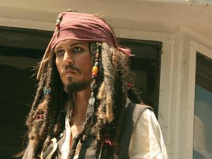 Captain Jack Sparrow Johnny Depp in Pirates of the Carribean