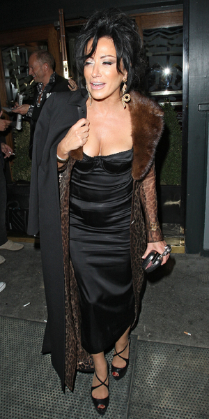 Nancy Dell'Olio, leaving the Groucho Club in Soho. London, England - 21.09.12 Mandatory Credit: Spiller/WENN.com