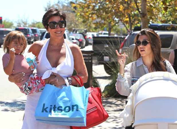 Kourtney Kardashian, Mason Disick, Penelope Scotland Disick  and Kris Jenner spend the day shopping in Malibu Los Angeles, California - 01.09.12 Mandatory Credit: Michael Wright/WENN.com