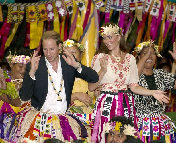 Kate Middleton and Prince William in Tuvalu