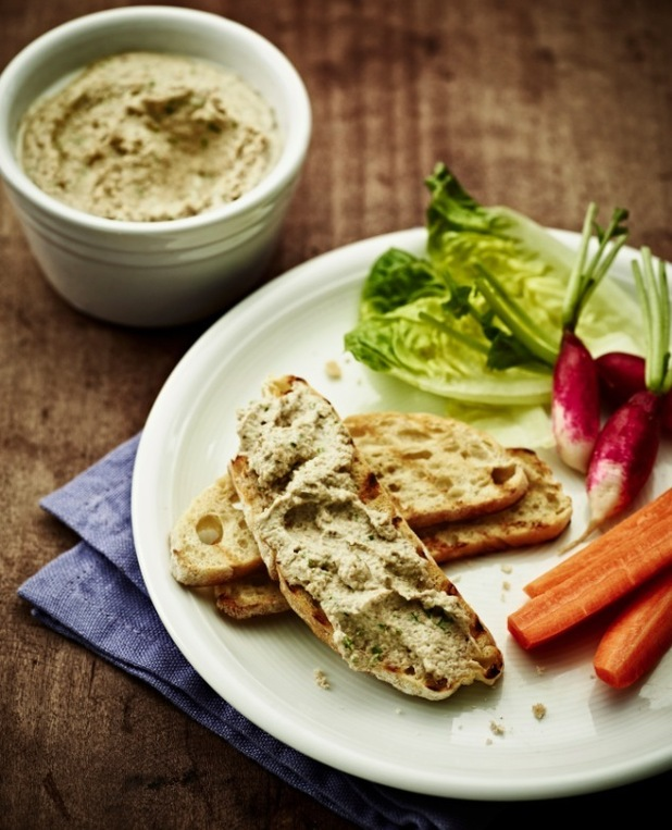 James Tanner recipe: Mascarpone mushroom and garlic pate with crisp breads