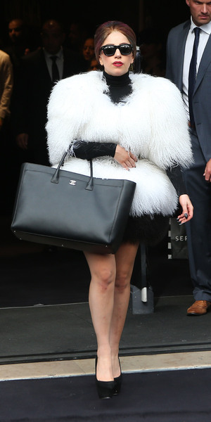 Lady Gaga leaving the Sephora department store on the Champs Elysee after the launch of her new perfume 'Fame' Paris, France - 23.09.12 **Available for publication in the UK & USA only. Not for publication in the rest of the world** Credit: WENN.com