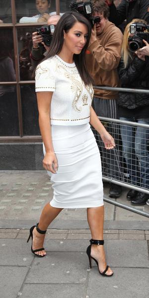 miss mode: Kim Kardashian at the BBC Radio 1 studios London, England - 17.05.12 Credit Mandatory: WENN.com
