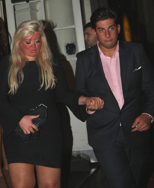 Gemma Collins and James Argent 'Arg' attend Joey Essex's birthday party at Funky Buddha London, England - 31.07.12 Credit: (Mandatory) WENN.com