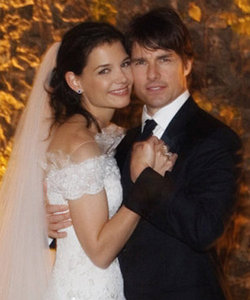 Wedding heaven Katie Holmes and Tom Cruise