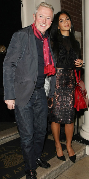 Louis Walsh and Nicole Scherzinger leaving the Arts Club in Mayfair, London, England - 10.10.12