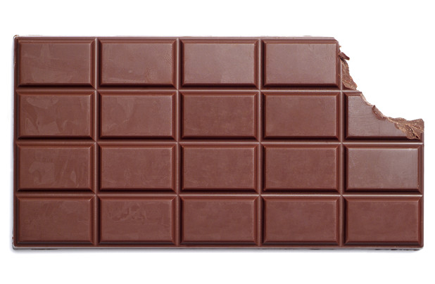 chocolate bar with bite out of it, for Chocolate Week