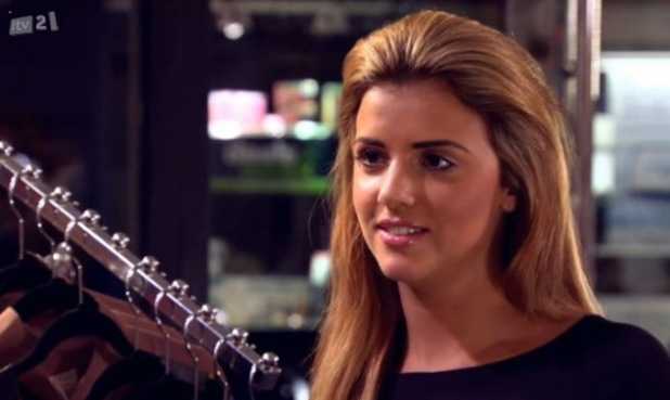 Lucy Mecklenburgh with blonde hair