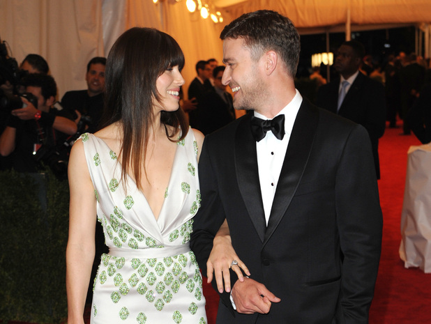 Jessica Biel and Justin Timberlake Schiaparelli and Prada 'Impossible Conversations' Costume Institute Gala 2012 at The Metropolitan Museum of Art New York City, USA - 07.05.12 Mandatory Credit: Lia Toby/WENN.com