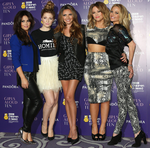 Cheryl Cole, Nicola Roberts, Nadine Coyle, Kimberley Walsh, Sarah Harding Girls Aloud announce the release of their new single, album and tour - Arrivals London, England