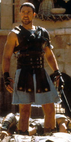 Russell Crowe (as Maximus) from the film  'Gladiator' 2000This is a PR photo. WENN does not claim any Copyright or License in the attached material. Fees charged by WENN are for WENN's services only, and do not, nor are they intended to, convey to the user any ownership of Copyright or License in the material. By publishing this material, the user expressly agrees to indemnify and to hold WENN harmless from any claims, demands, or causes of action arising out of or connected in any way with user's publication of the material. Supplied by WENN.com
