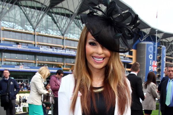 Katie Piper at the Ascot races
