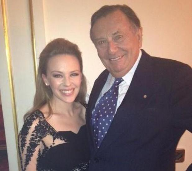 Kylie Minogue and Barry Humphries at St James&#39; Palace