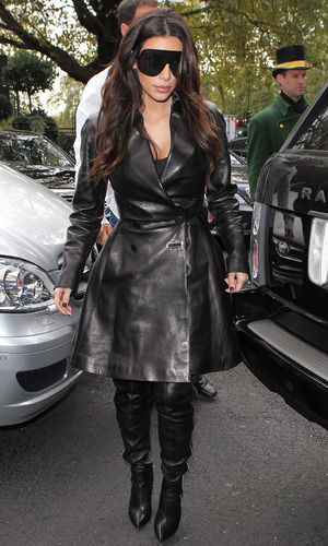 Kim Kardashian arrives in London