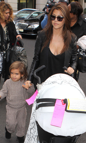 Kourtney Kardashian arrives in London