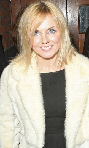 miss mode: Geri Halliwell leaving the Palace theatre after attending a photocall for Pop Goes The Musical: Singin' In The Rain for Children in need London, England - 25.10.12 Mandatory Credit: Spiller/WENN.com
