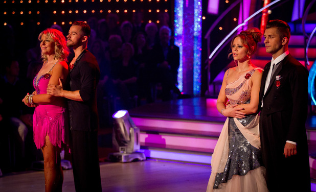 Embargoed until 11/11 8pm. Kimberley Walsh and Fern Britton are in the bottom two on Strictly Come Dancing.