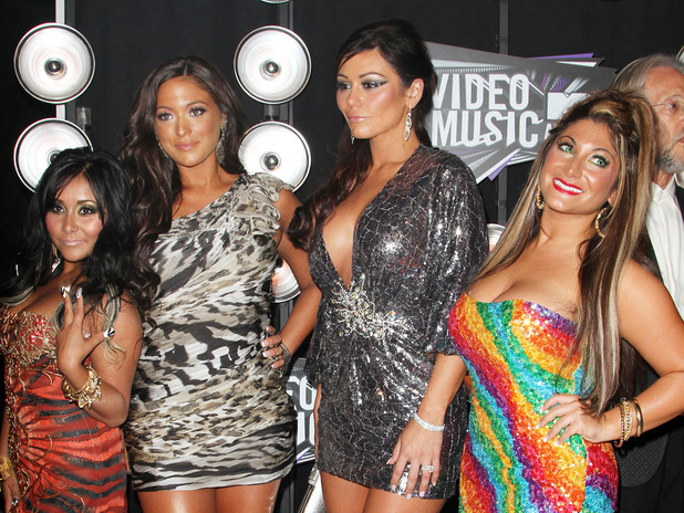 Nicole 'Snooki' Polizzi, Sammi 'Sweetheart' Giancola, Jenni Farley aka 'JWOWW' and Deena Nicole Cortese 2011 MTV Video Music Awards held at LA Live - Arrivals Los Angeles, California - 28.08.11 Mandatory Credit: FayesVision/WENN.com