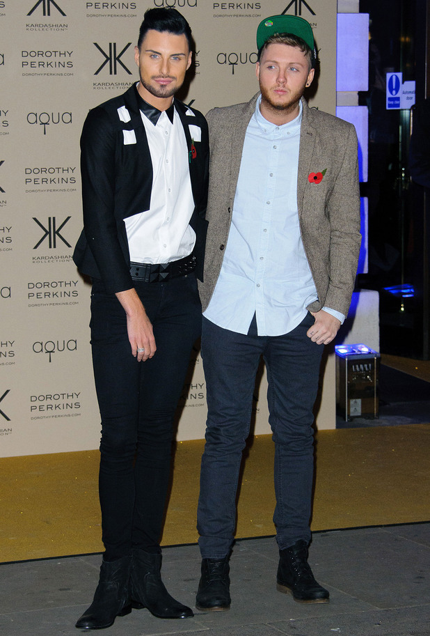 Kardashian Kollection for Dorothy Perkins launch party at Aqua: Rylan Clark and James Arthur