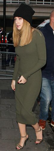 Miss Mode: Nicole Roberts outside Radio 1 Studios 12/11/2012