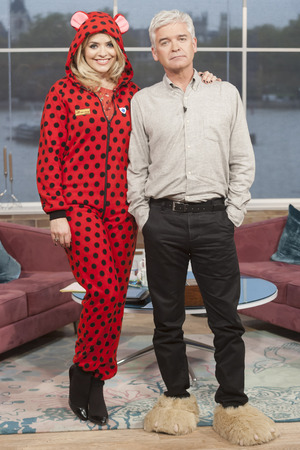 Holly Willoughby and Phillip Scofield support Children In Need by wearing pyjamas