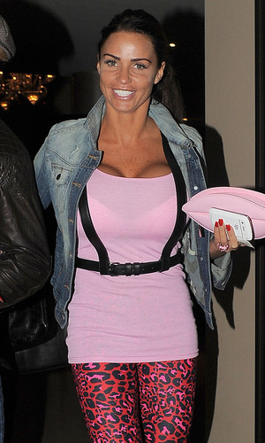 Katie Price leaving the May Fair hotel with hairdresser friend Gary Cockerill. London, England
