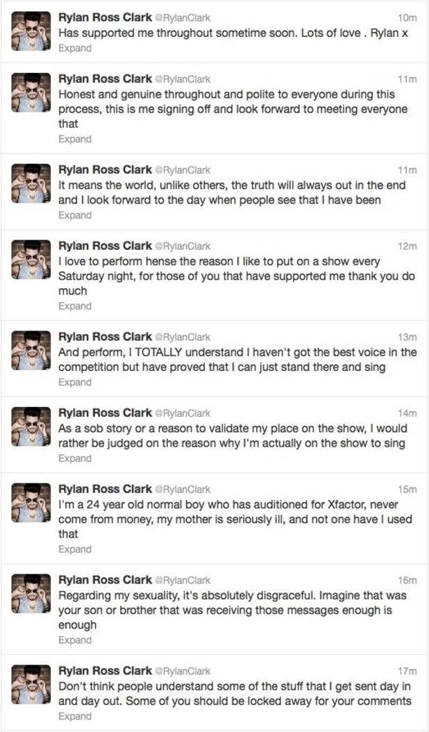 Rylan Clark Twitter rant 22.11.12