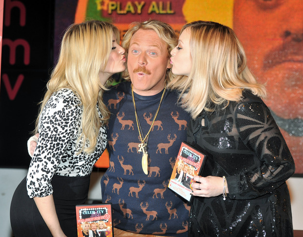 Holly Willoughby, Keith Lemon and Fearne Cotton 'Celebrity Juice: Too Juicy For TV 2' DVD signing at HMV Oxford Street London, England - 22.11.12 Mandatory Credit: Daniel Deme/WENN.com