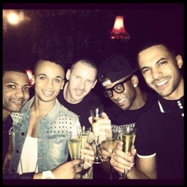JLS toast Marvin and Rochelle Humes baby news