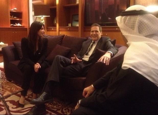 Kim Kardashian meets US Ambassador Matthew Tueller in Kuwait
